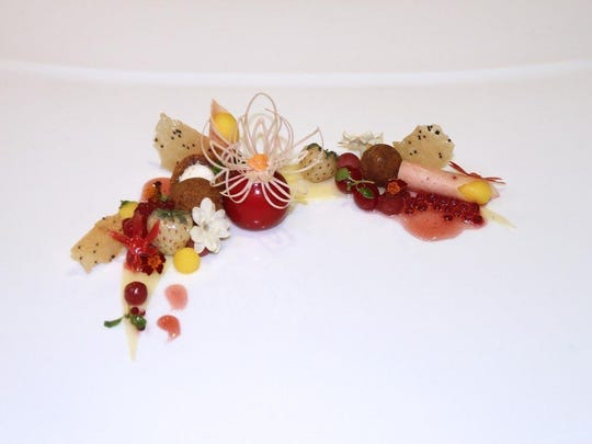 Corey Siegel's example of cold food display for the Culinary World Cup.