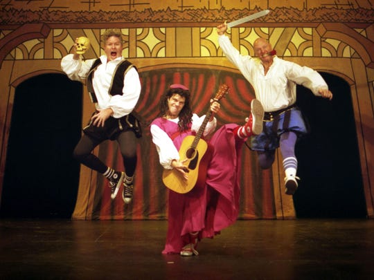 """""""Reduced Shakespeare Company: The Complete Works of William Shakespeare"""" (abridged, revised), will be at Wharton Nov. 20-21."""