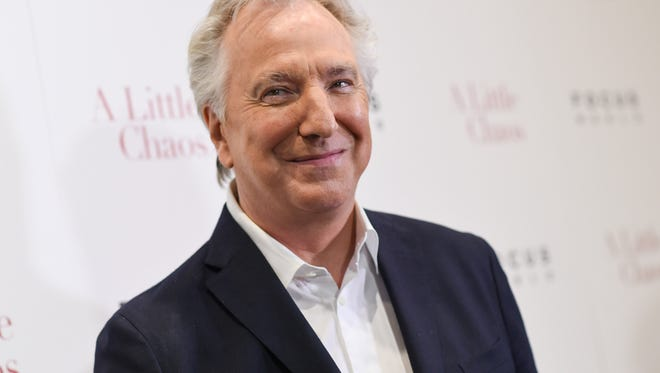 """FILE - In this Wednesday, June 17, 2015 file photo, actor Alan Rickman attends the premiere of """"A Little Chaos"""" at the Museum of Modern Art, in New York. British actor Alan Rickman, whose career ranged from Britain's Royal Shakespeare Company to the """"Harry Potter"""" films, has died. He was 69.  Rickman's family said Thursday, Jan. 14, 2016 that the actor had died after a battle with cancer.  (Photo by Evan Agostini/Invision/AP, File)"""