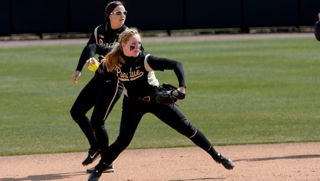 Paris Andrew is one of seven Purdue seniors who will play at the Boilermaker Softball Stadium for the final time this weekend.