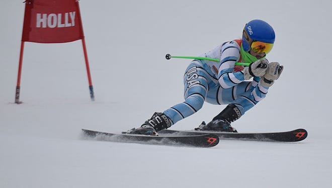 Birmingham United's Kate Bridges placed second in the giant slalom and fifth in the slalom at Wednesdays' regional ski meet held at Mt. Holly