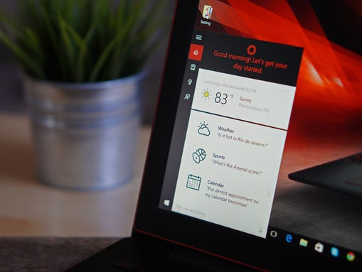 With Windows 10 installed, you can use the new Cortana