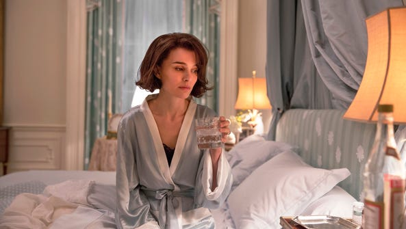 "Natalie Portman as Jackie Kennedy in a scene from ""Jackie."""
