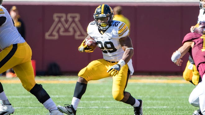 The UW defense could be short-handed against  Iowa running back LeShun Daniels.