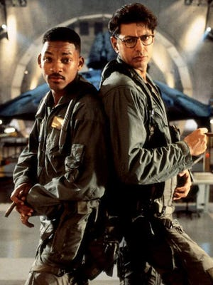 "Will Smith, left, and Jeff Goldblum saved the world in ""Independence Day."""
