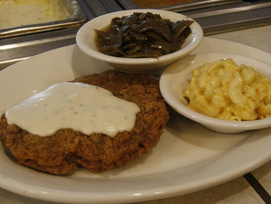 Country fried steak is among the most popular items