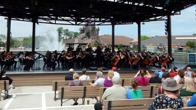 The Webster Thomas Orchestra entertains at Disney (Provided photo)