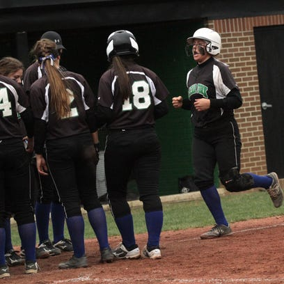 Clear Fork's Haylie Miller is congratulated by her