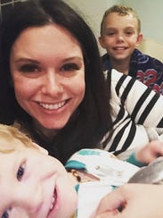 Brittany Alvarez with her sons. J.J., 11, and Thomas,