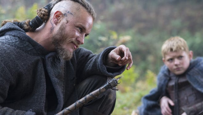 An image from the History series 'Vikings' shows star Travis Fimmel.