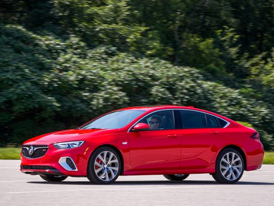 The 2018 Buick Regal GS is taken for a test drive during