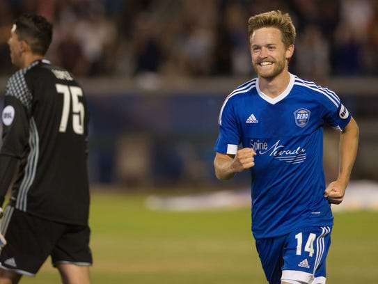 Chris Wehan is one of three Reno 1868 FC players to