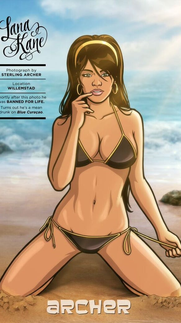 The illustrated ladies of 'Archer' pose for 'Sports ...