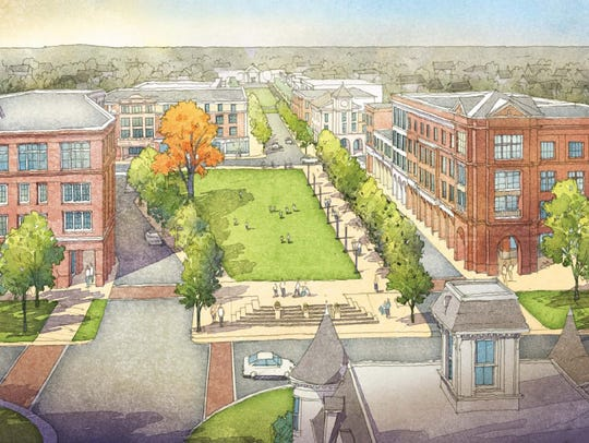 This is a rendering of Union Village, a proposed development