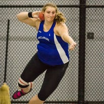Hillman heaves shot, discus record lengths for Blue Hens