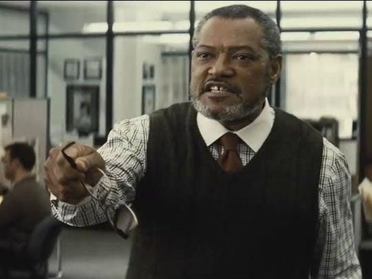 """Lawrence Fishburne is a deranged Perry White in """"Batman v. Superman."""""""