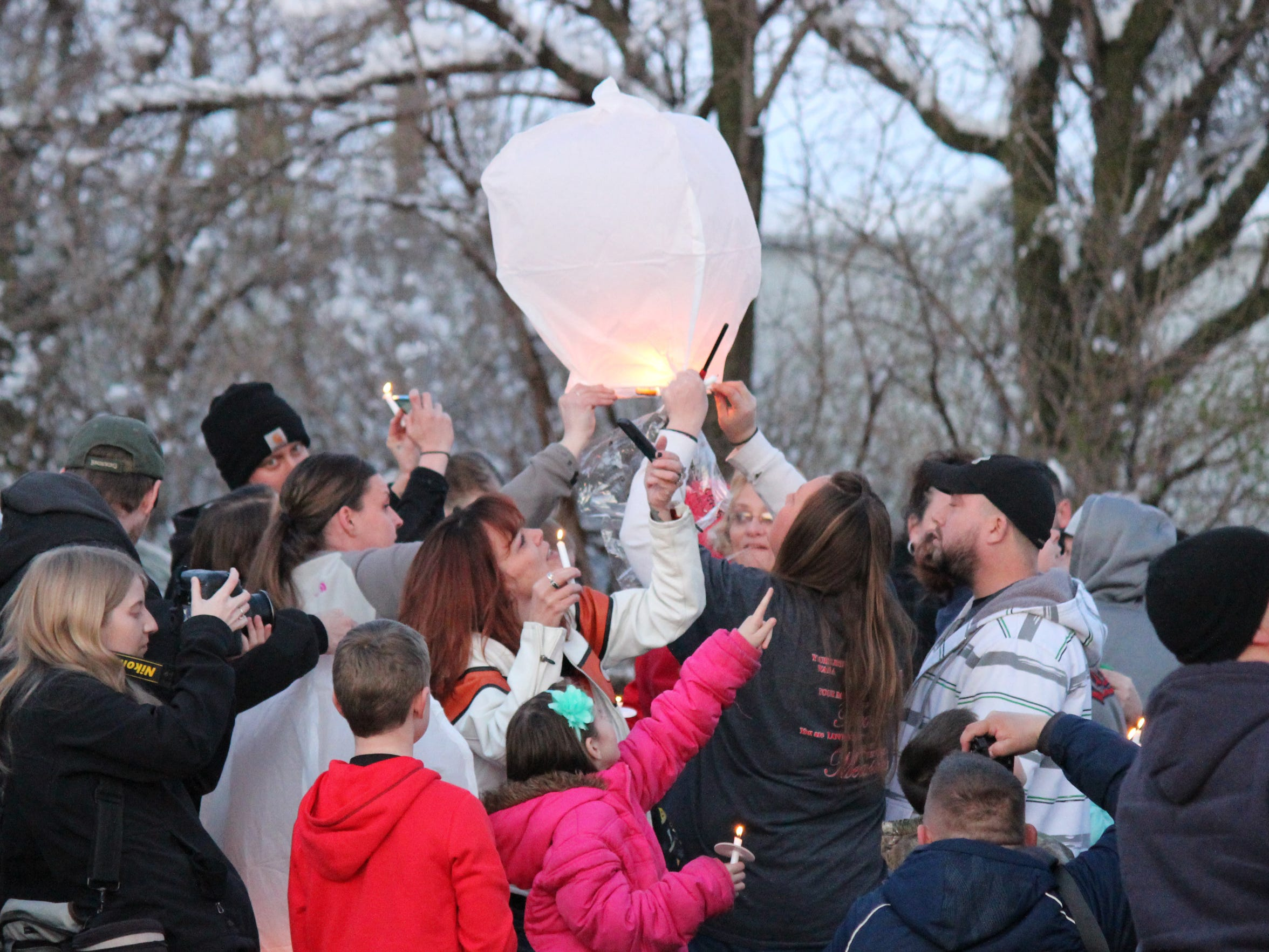 Family and friends celebrated the life of Heather Bogle with a candlelight vigil at Anjulina's in Fremont on the one-year anniversary of her death.