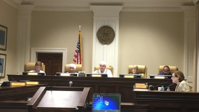Hattiesburg City Council members on Monday discuss items on the agenda for Tuesday's regular meeting.