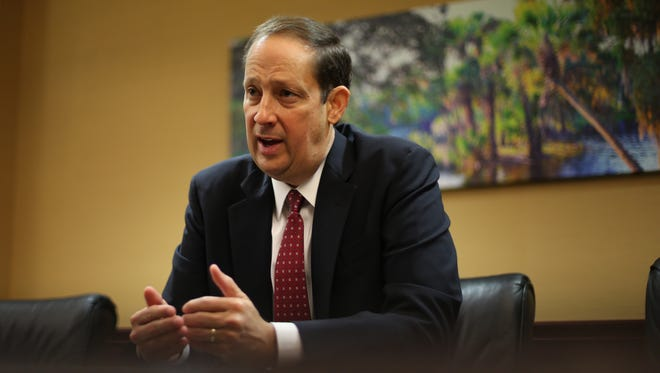 New Florida Senate President Joe Negron speaks with the USA Today Network on Tuesday from his conference room at the Capitol in downtown Tallahassee.