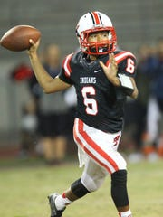 Palm Springs High School's quarterback Jeremy Dotson