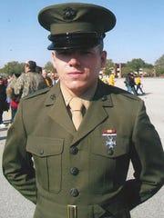 Marine veteran Jacob Faulkner pictured in uniform.