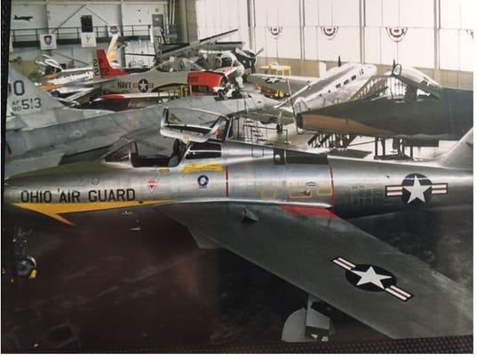 Restored F-84F flown in Mansfield is restored.JPG