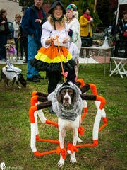Lauronda Morrow and her dog Ollie won the Howl-O-Ween grand prize in 2015 as Little Miss Muffet and the spider that sat down beside her.
