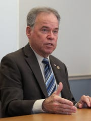 Rockland County Executive Ed Day speaks to the Journal New Editorial Board at BOCES in West Nyack Jan. 24, 2018.