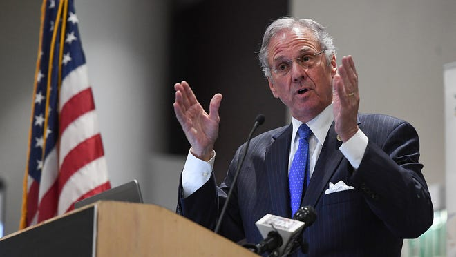 South Carolina Gov. Henry McMaster speaks at the Upstate SC Alliance's annual meeting in Greenville on Wednesday, March 29, 2017.