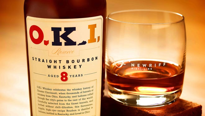 New Riff's O.K.I Straight Bourbon Whiskey.