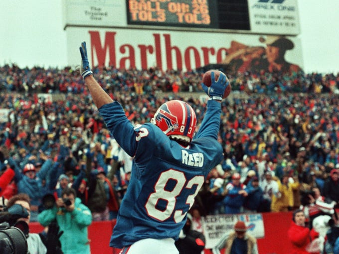 Andre Reed gives the fans something to cheer about.