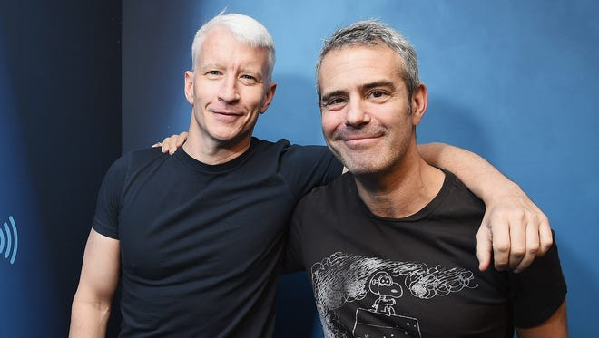 It's not an act: Anderson Cooper (left) and Andy Cohen are really good friends.