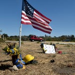 A motorist slows down Thursday while deciding which lane to use at a roundabout at Highway 246 and La Purisima Road.