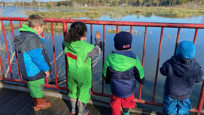 Students at Seedlings Discovery Preschool explore Window on the Waterfront Park. The Outdoor Discovery Center Network recently announced the launch of Seedlings, which will be relocated to Pillar Church, and is a partnership with the Ottawa Area Intermediate School District and Hope College.