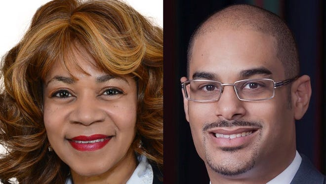 Sharon Webb, left, and Edmund Ford Jr., candidates for Shelby County Commission District 9.