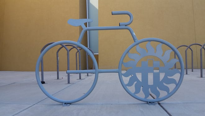A bike rack is seen Sept. 17 in front of Las Cruces City Hll, 700 N. Main St., Las Cruces, N.M.