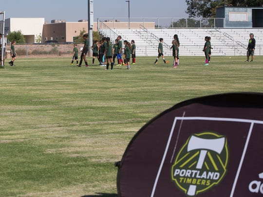 Portland Timbers Soccer Camp at High Noon Field. Friday June 30, 2017. The Camp had over 70 campers between the morning and evening groups. With over 100 more players expected during the ID Camp later Friday evening.