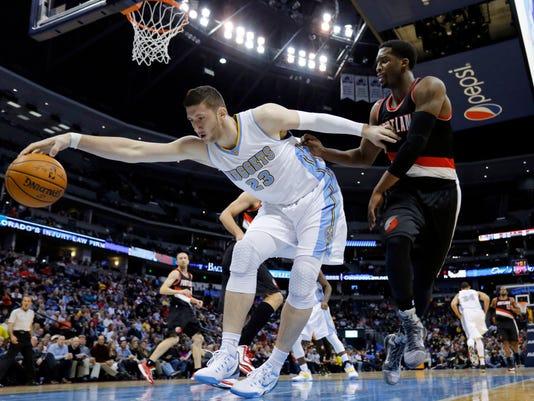 Trail Blazers Nuggets Basketball (2)