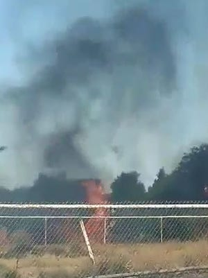 A brush fire Monday, May 22, in a field off Watson Lane is not believed to have burned any homes or structures, according to fire officials.