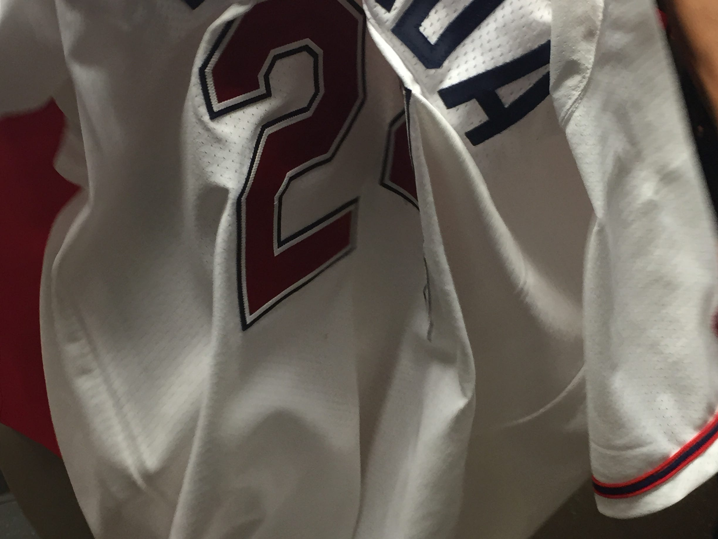 The jersey worn by Yoan Moncada for his first game with the Greenville Drive was authenticated by MLB on May 18, 2015.