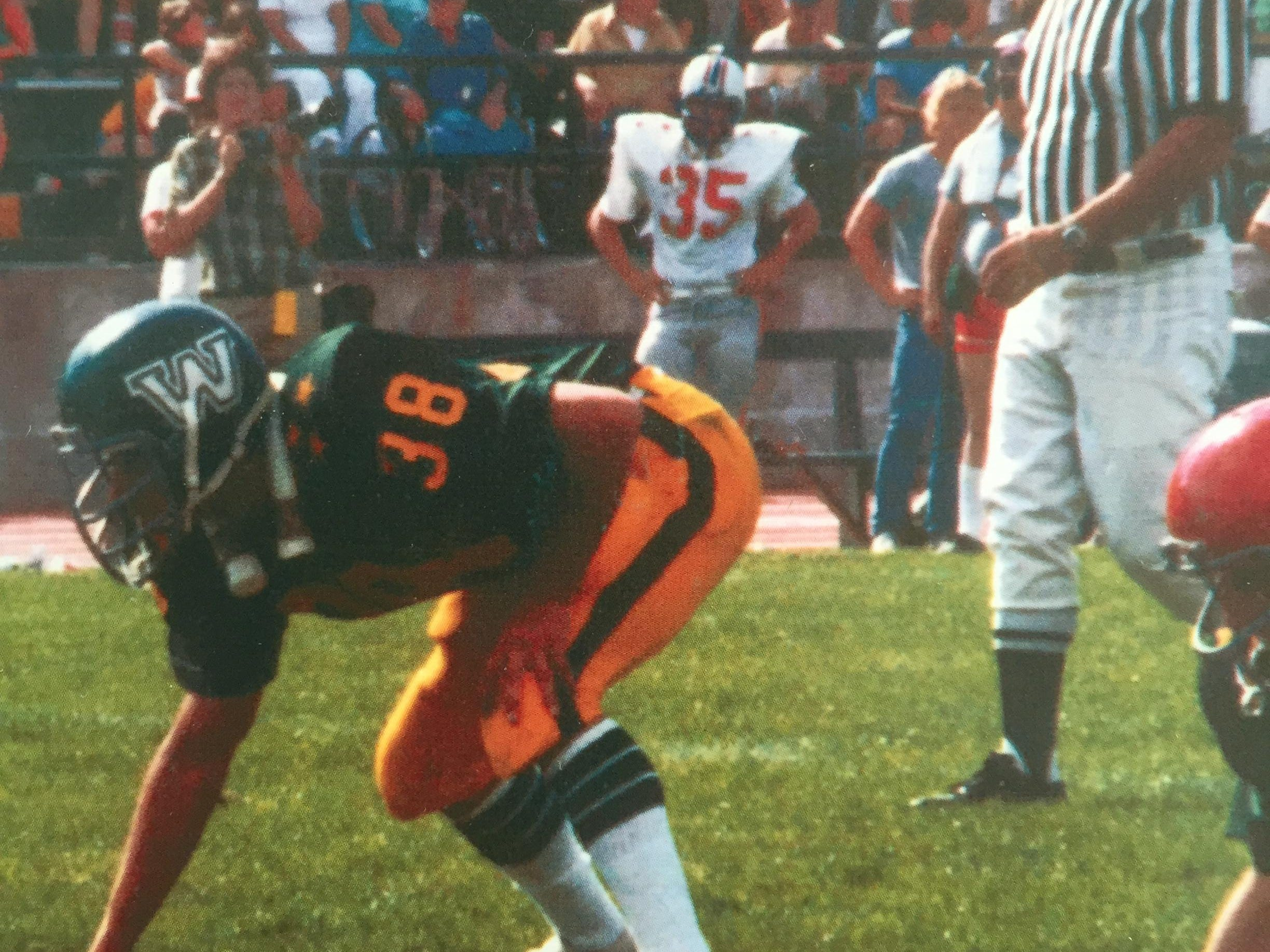 Glenn Cummings played in the 1980 Shrine Maple Sugar Bowl at Dartmouth College. His son, Grant, a Colchester standout, will represent the Cummings family and Vermont at Saturday's game.