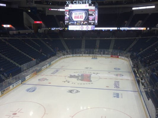 The XL Center, home of the Hartford Wolf Pack.