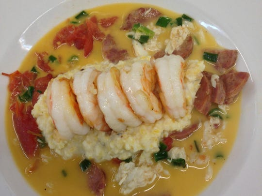 Low Country Shrimp 'n Grits at Wine Country Bistro.