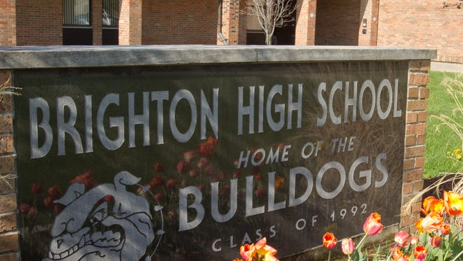 Brighton High School students and teachers recently faced off in a fundraising donkey basketball game.