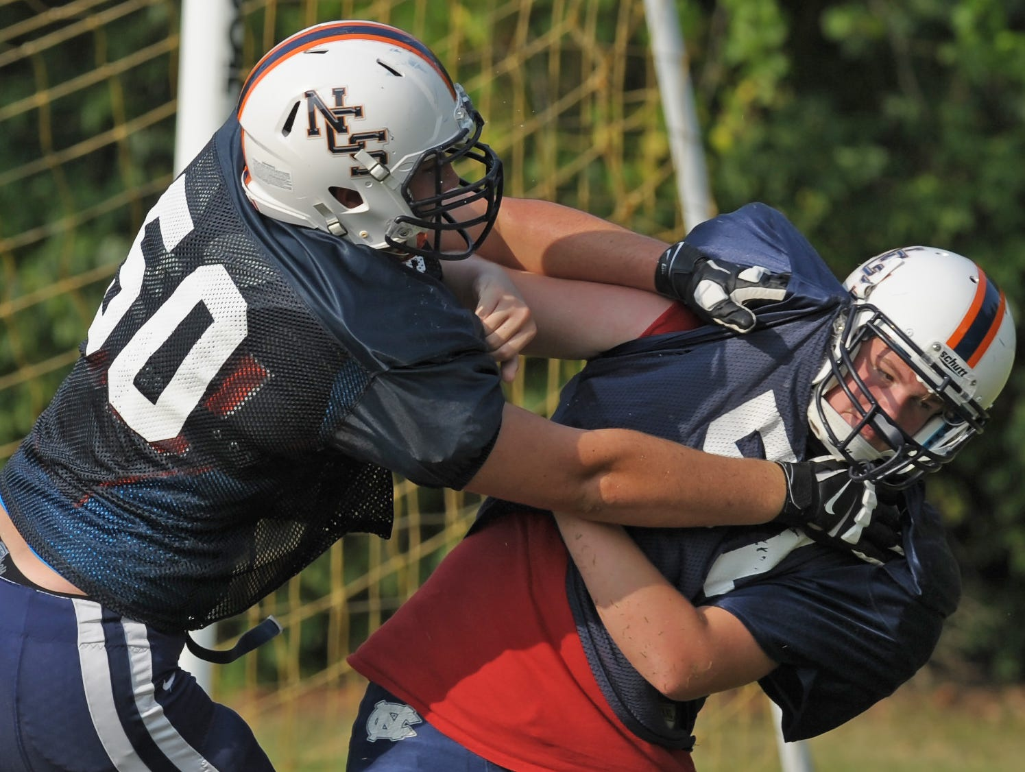 Nashville Christian lineman Alex Givens (50) has chosen to play college ball at Ole Miss.