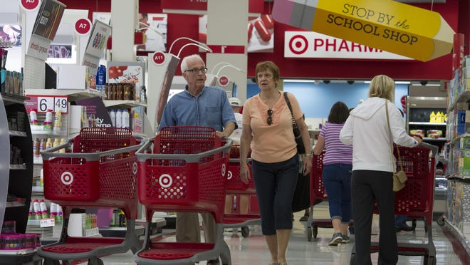 Shoppers at a Target store in Wilmington, Delaware.