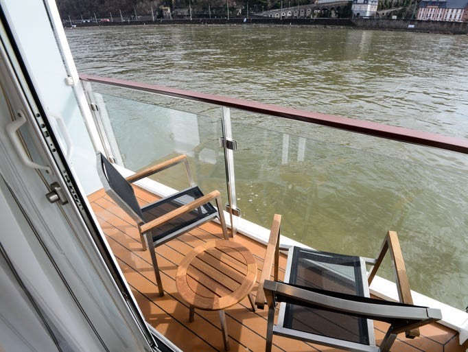 Balconies on Europe's river cruisers are rare, but