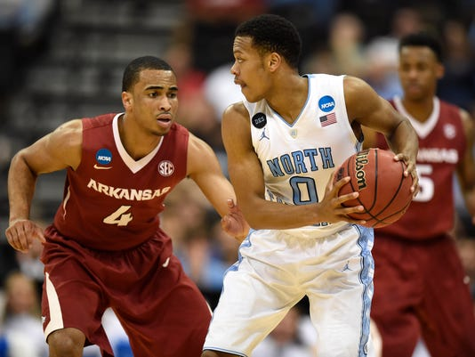 NCAA Basketball: NCAA Tournament-3rd Round-North Carolina vs Arkansas