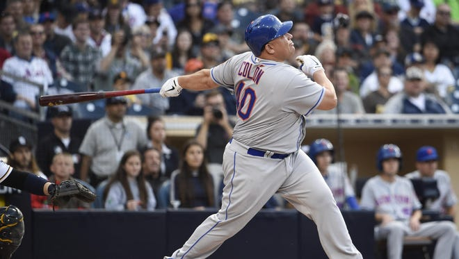Bartolo Colon hits a two-run home run during the second inning Saturday against the San Diego Padres at Petco Park.