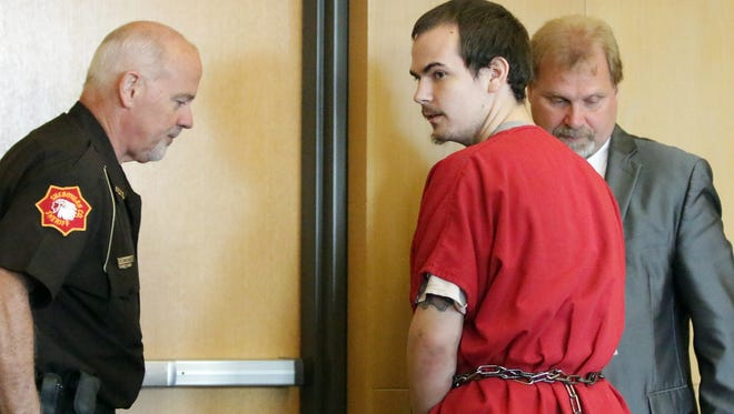 Donovan Cotter leaves his plea hearing Tuesday, September 13, 2016 in Sheboygan County Circuit Court Branch 5.
